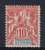 Océanie Française, Type Groupe, 10c. Rouge, 1900 **, TB joli Timbre Très Frais - Unused Stamps