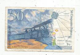 Billet , FRANCE , 50 , Cinquante Francs , 1997 ,  Saint Exupéry , 2 Scans - 50 F 1992-1999 ''St Exupéry''