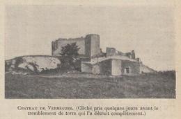 G2746 France - Chateau De Vernègues - 1909 Vintage Print - Stampa Epoca - Stampe & Incisioni
