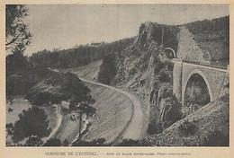 G2811 France - Corniche De L'Estérel - Pont Et Plage Notre-Dame - 1903 Old Print - Stampe & Incisioni