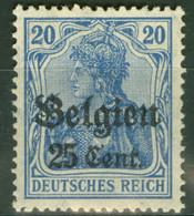 Landespost In Belgien 18 ** Postfrisch - Occupation 1914-18