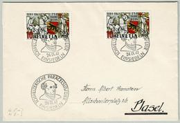 Schweiz / Helvetia 1941, Brief Paracelsus-Feier Einsiedeln - Basel, 750 Jahre Bern, Steinmetz/Stonemason - Medicine