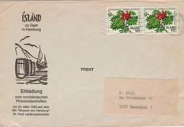 Island Reykjavík 1982 - Vogelbeere Sorbus Aucuparia [ungiftig!] - Illustriertes Kuvert - Lettres & Documents