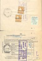 [516768]TB//-Belgique 1958 - Poortman, 3f (2x) Sur Doc De Douane, Familles Royales, Rois - 1936-1951 Poortman