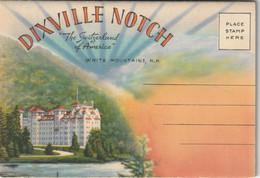 "Souvenir Folder Of Dixville Notch, ""The Switzerland Of America"" White Mountains, New Hampshire - White Mountains"