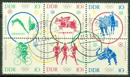 DDR 1039/44 Sechserblock O Tagesstempel - Usados