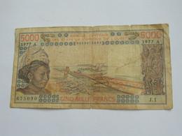 COTE D'IVOIRE 5000 Francs 1977 - Banque Centrale Des états De L'Afrique De L'ouest  **** EN  ACHAT IMMEDIAT  **** - Côte D'Ivoire