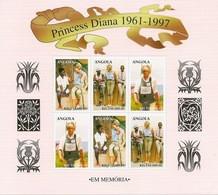 ANGOLA 1998  Princess Diana - Angola