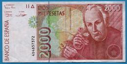 ESPANA 2000 PESETAS    24.04.1992 (1996)  # 4S4657372 P# 164  José Celestino Mutis - Cuba