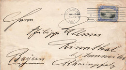 US Cover Brief EF MI.135 St.Louis 1901 To Germany Rinnthal - Cartas