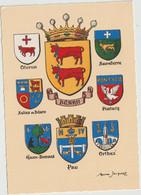Région :  Blason : M. Jacquez: Pirénées: Oloron,salies De Bearn,pau,pontacq,eaux Bonnes,orthez,sauveterre, Béarn - Midi-Pyrénées