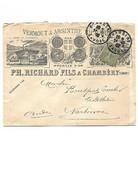 B53 VERMOUT ET ABSINTHE RICHARD ET FILS CHAMBERY SAVOIE POUR NARBONNE Semeuse Lignée - 1877-1920: Semi Modern Period
