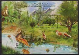 Maroc - Morocco (2020) - Block -  /  Environement - Fauna - Fishes - Trees - Fox - Birds - River - Protezione Dell'Ambiente & Clima