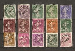 France 1922/47 -  Petit Lot De 15 Timbres - Blanc - Semeuse - Paix - Mercure - Ceres - Marianne De Gandon - 1893-1947