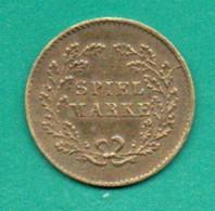 GETTONE - JETON - TOKEN  SPIEL MARKE - VICTORIA REGINA -CONDIZIONI PERFETTE - Royal/Of Nobility