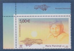 Poste Aérienne Personnalité Hommage à Marie Marvingt Aviatrice Créatrice De L'avion Sanitaire 5.00€ N°PA67a - 1960-.... Ungebraucht