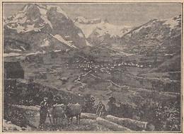G2648 France - Dans La Vallée D'Aspe - Le Cirque De Lescun - 1928 Vintage Print - Stampe & Incisioni