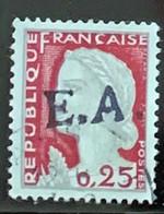 ALGÉRIE 1962 - O - Type 9-222 - Surcharge EA LA TENIRA (Oran) - (Surcharge Locale) - Marianne De Decaris - Algeria (1962-...)