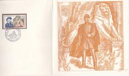 FRANCE ENCART N° 1660 LION BELFORT DENFERT ROCHEREAU + GRAVURE DECARIS  N°169/2000 - Altri