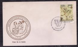 Peru FDC Société Géographique De Lima 1989 - Geografía