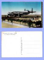 BRÉGUET DEUX PONTS - AIR FRANCE à L'aérogare D'El Aouina, Tunis, Tunisie. Avion Aviation. Vers 1957. - 1946-....: Modern Era