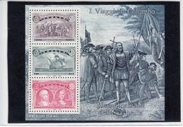 1992 -  FOGLIETTO COLOMBO ITALIA CON L. 600 VARIETA' NUOVO MNH** VEDI++++ - Blocs-feuillets