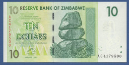 ZIMBABWE - P.67 – 10 Dollars 2007 - UNC Prefix AC - Zimbabwe
