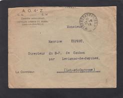 CONTROLE ADMINISTRATIF. CERCLES URBAIN ET RURAL D'AIX LA CHAPELLE (AACHEN).1919. - Cachets Militaires A Partir De 1900 (hors Guerres)