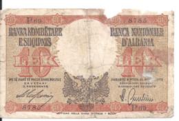 ALBANIE 10 LEK ND1940 VG P 11 - Albania