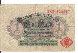 ALLEMAGNE 1 MARK 1914 VF P 51 - Ohne Zuordnung
