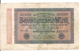 ALLEMAGNE 20000 MARK 1923 VF P 85 - 20.000 Mark