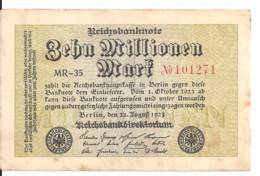 ALLEMAGNE 10 MLLIONEN MARK 1923 VF P 106 - 10 Mio. Mark