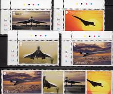 Überschall-Flugzeug 2019 Gibraltar 1905/8+ER ** 54€ Concorde GB/France S/s Airplane Avion Military Sets Of Britain - Airplanes