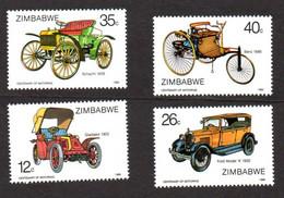 ZIMBABWE - 1986 - VOITURES - CARS - AUTOS - Ford - Benz - Gladiator - Schacht - - Voitures