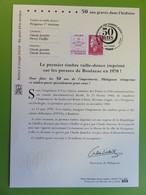 Notice à Tirage Limité - La République De Cheffer - Philaposte - Phi@poste - 2020 - Avec Timbre Collé Sur Notice - Documents Of Postal Services