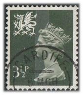 GB 1974 Yv. N°713 - 3p1/2 Violet - Oblitéré - Wales