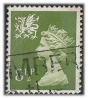 GB 1976 Yv. N°779 - 8p1/2 Vert-olive - Oblitéré - Wales