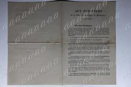 AUX ÉLECTEURS De MONTLUÇON, D. OUVIÈRE Maire De Montluçon, M. DUCHET Ancien Maire, échanges,3 Documents,1870 - Historische Dokumente
