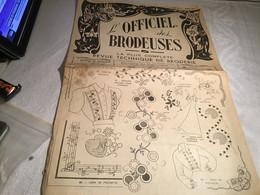 L'officiel Des Broderies Le Plus Grand Complet Revue Technique De Broderie Lyon 1949 - Andere