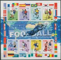 Kuba 2002 Fußball-WM Japan Südkorea Kleinbogen 4420/27 K Postfrisch (SG94095) - Hojas Y Bloques