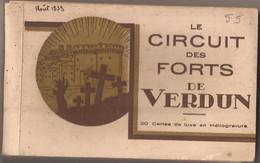 """CARNET DE 20 CARTES """" LE CIRCUIT DES FORTS DE VERDUN """" - Guerra 1914-18"""