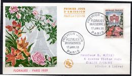 FDC FRANCE 1959 - N° 1189 - Floralies Parisiennes - 1950-1959