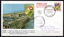 FDC FRANCE 1959 - N° 1195 - Blason D'Alger - 1950-1959