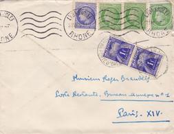 FRANCE LETTRE  AVEC TIMBRE 1946 / CERES DE MAZELIN / N° 674 ET 675 TT 70  / COTE 17 EUROS - Briefe U. Dokumente