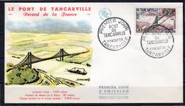 FDC FRANCE 1959 - N° 1215 - Inauguration Du Pont De Tancarville - 1950-1959
