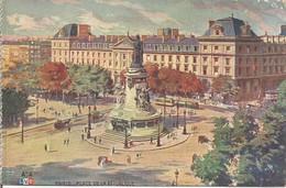PARIS - PLACE DE LA REPUBLIQUE. (scan Verso) - Squares