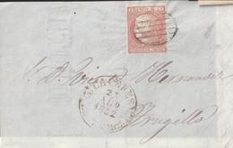1852-FRONTAL-Edifil: 12. ISABEL II. CACERES A TRUJILLO. Baeza CACERES / ESTREM B, En Negro - Lettres & Documents