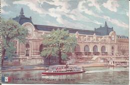 PARIS  -  GARE DU QUAI D'ORSAY. (scan Verso) - Stations, Underground