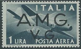1945-47 TRIESTE AMG VG POSTA AEREA 1 LIRA MH * - RE1-6 - Nuovi