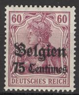 Landespost In Belgien 6 ** Postfrisch - Occupation 1914-18